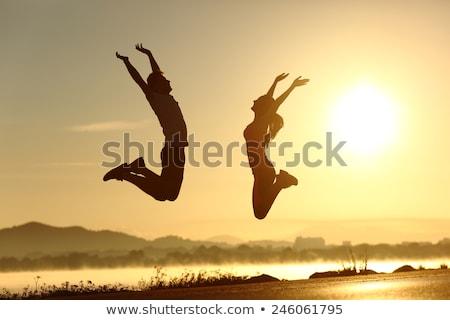 életbevágó energia fiatal nő élvezi megnyugtató masszázs Stock fotó © pressmaster