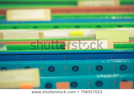 Hanging file folder labeled with Records Stock photo © Zerbor