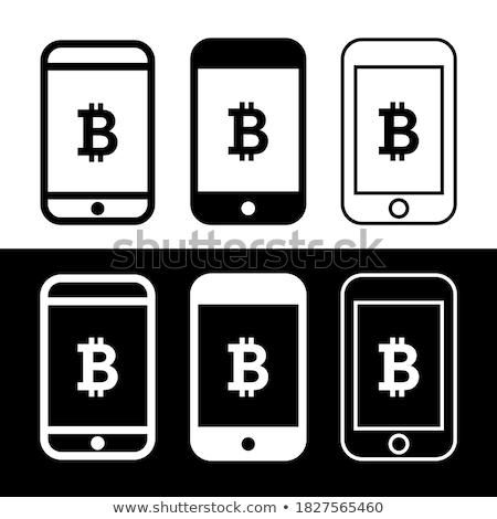 Smartphone main mobiles bitcoin Photo stock © stevanovicigor