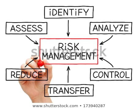 Risk Management Flow Chart Red Marker Stock photo © ivelin