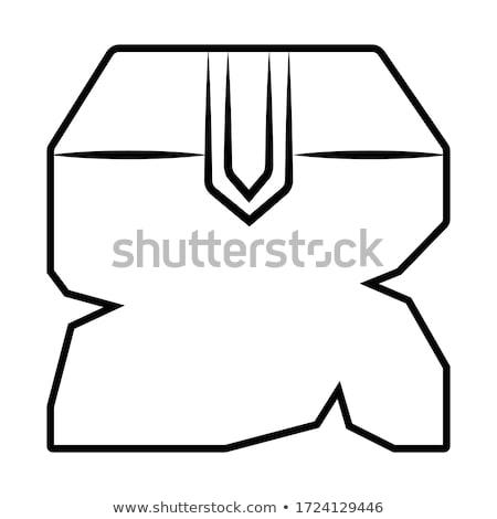 Sérült doboz ikon terv születésnap technológia Stock fotó © tkacchuk