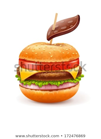 Ongezond fast food hamburger zoals appel blad Stockfoto © LoopAll