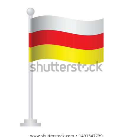 South Ossetia Small Flag on a Map Background. Stock photo © tashatuvango