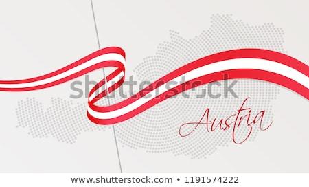 карта Австрия штампа напечатанный служба Сток-фото © andromeda