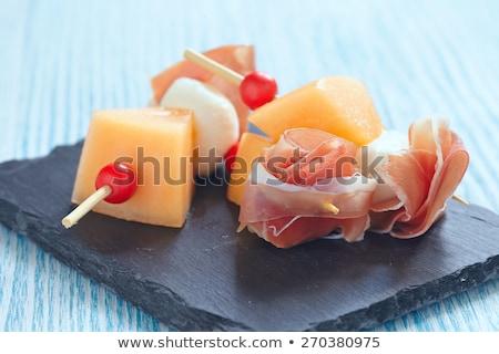 Meloen Salade Mozzarella Bal Voedsel Diner