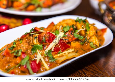 kerrie · indian · diner · asian · hot · rijst - stockfoto © neillangan