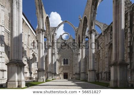 terremoto · ruínas · grande · casa · seguro - foto stock © meinzahn
