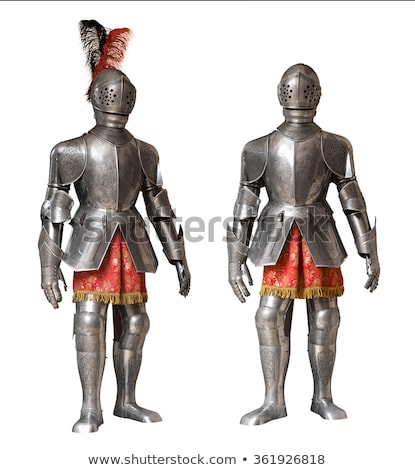 Medieval knight armour over white isolated background Stock photo © HERRAEZ