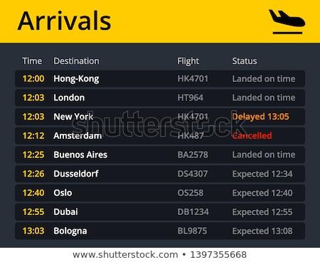 ストックフォト: 空港 · 飛行 · スケジュール · リスト · 便 · ビジネス