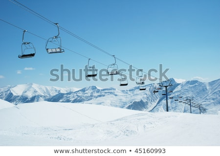 Chutes de neige alpine ski Resort nature neige Photo stock © mahout