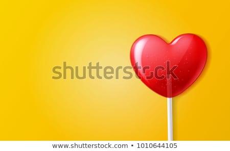 forme · de · coeur · texte · boîte · cadre · saint · valentin · papier - photo stock © mcherevan