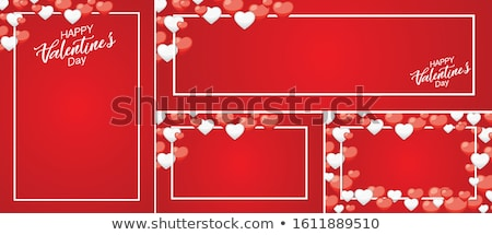 Set of smiles of heart shape with many emotions, isolated on whi Stock photo © smeagorl