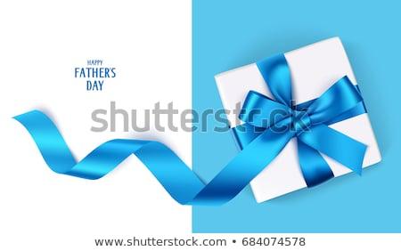 blue ribbon on gift box stock photo © valeriy