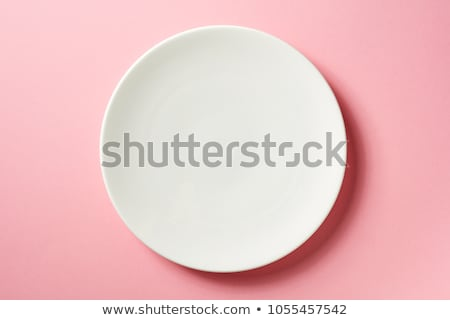 Plain white Plate from top Stock photo © tangducminh