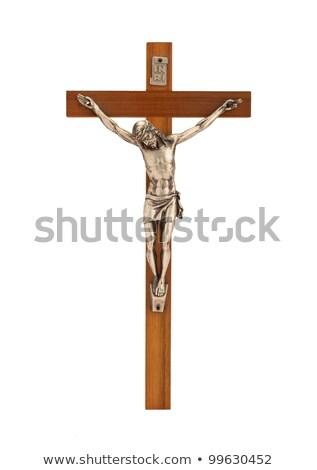 распятие Рисунок Иисус белый старые Сток-фото © jarin13