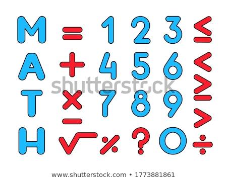 Mathematical Sign Red Vector Icon Design Stock photo © rizwanali3d