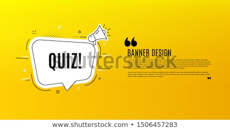 Ask Yellow Vector Icon Design Stock photo © rizwanali3d