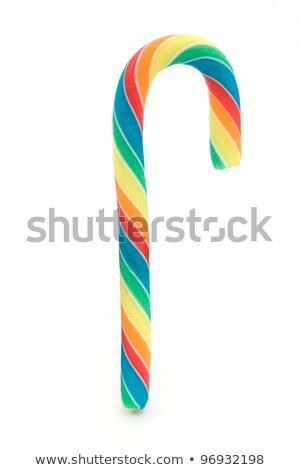 Rainbow candy cane over white. Stock photo © lucielang