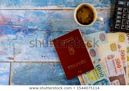 Foto stock: Diferente · húngaro · billetes · mesa · dinero · textura