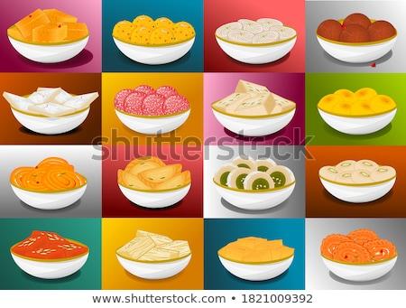 Dessert zoals wortelen bloem midden Stockfoto © wxin