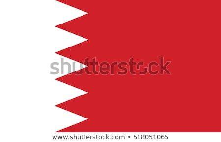 Banderą Bahrajn wykonany ręcznie placu streszczenie Zdjęcia stock © k49red
