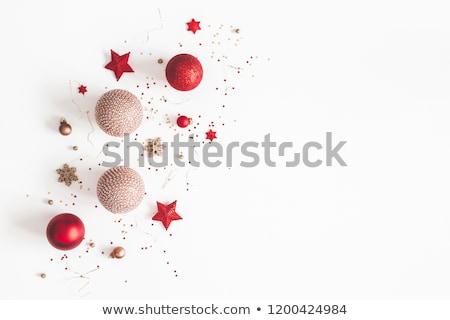 Christmas-balls with snowflakes texture Stock photo © boroda