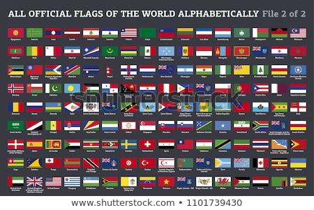 гонка флаг Мир флагами коллекция искусства Сток-фото © dicogm