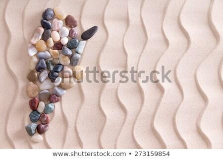 Kreatív kavics térkép Argentína tengerparti homok színes Stock fotó © ozgur