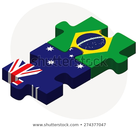 australia and brazil flags in puzzle stock photo © istanbul2009