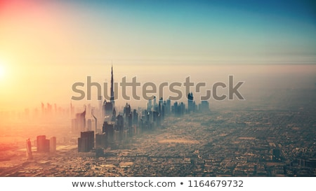 aerial view of dubai city stock photo © vwalakte