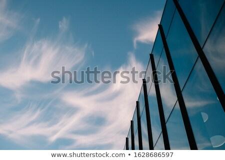 Gökdelenler zemin görmek mavi gökyüzü görünür Stok fotoğraf © VisualCorruption