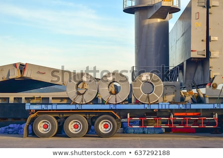 crane loading Coil steel in Steel plant Stock photo © mady70