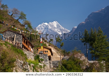 Tibetan mountains, Nepal, Annapurna trek. Stock photo © All32
