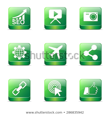 seo internet sign square vector green icon design set 1 stock photo © rizwanali3d