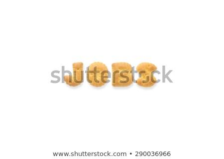 письме слово алфавит Cookie Печенье Сток-фото © vinnstock
