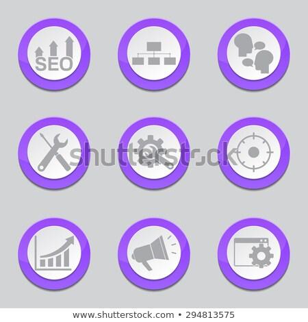 SEO Internet Sign Violet Vector Button Icon Design Set 5 Stock photo © rizwanali3d