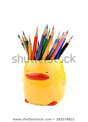 front view of color pencils Stock photo © caimacanul