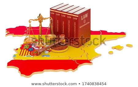 A gavel and a law book - Spain Stock photo © Zerbor