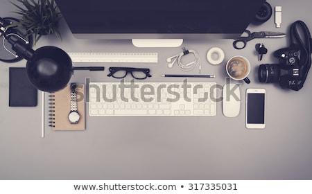 Web design iroda dolgozik laptop képernyő internet Stock fotó © tashatuvango