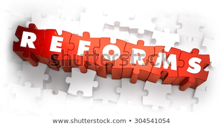 Reforms - White Word on Red Puzzles. Stock photo © tashatuvango