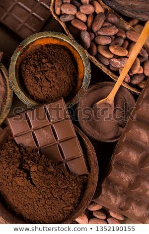 Aprított csokoládé kakaó étel háttér bár Stock fotó © joannawnuk