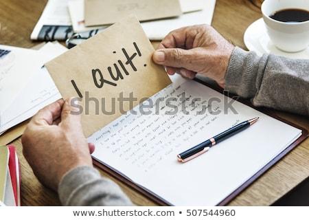 Quit job note and coffee Stock photo © fuzzbones0