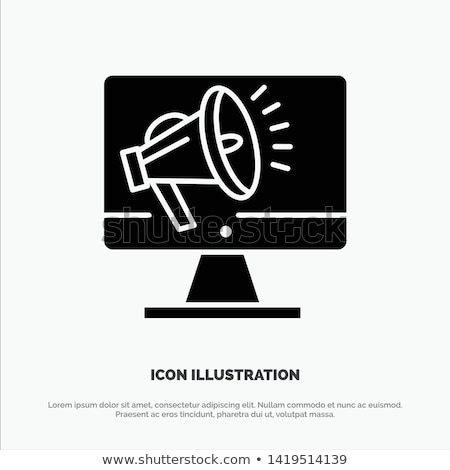 Hoog spreker volume icon krijt Stockfoto © RAStudio