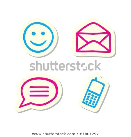 Email Vector Pink Web Icon Stock photo © rizwanali3d