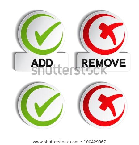 Tick Mark Circular Red Vector Web Button Icon Stock photo © rizwanali3d