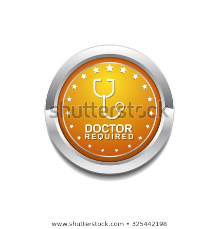 Doctor Required Yellow Vector Icon Button Stock photo © rizwanali3d