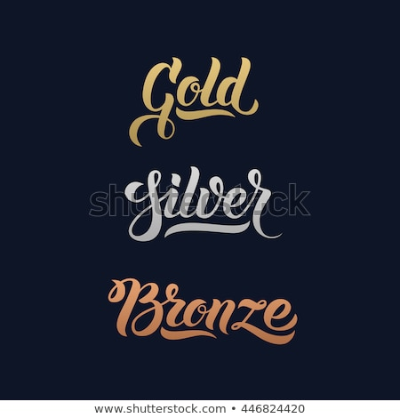 logo with hands in gold and silver stock photo © shawlinmohd