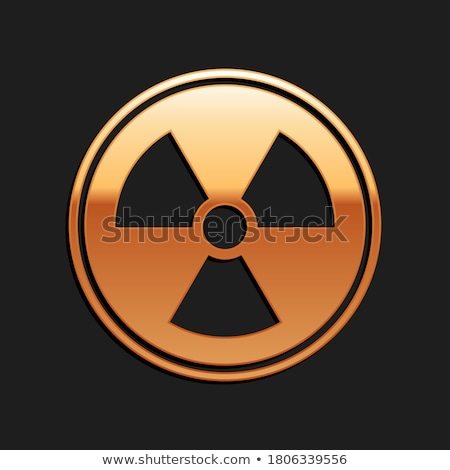 Radioactive Sign Golden Vector Icon Design Stock photo © rizwanali3d
