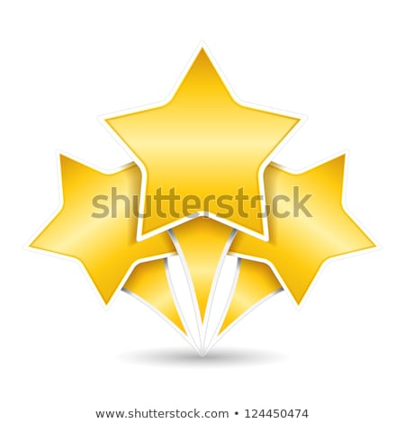3 Star golden Vector Icon Design Stock photo © rizwanali3d