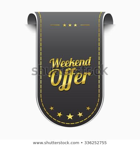 Weekend oferta złoty wektora ikona projektu Zdjęcia stock © rizwanali3d